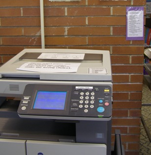 Waiting for the copier to warm up?  Read a poem!