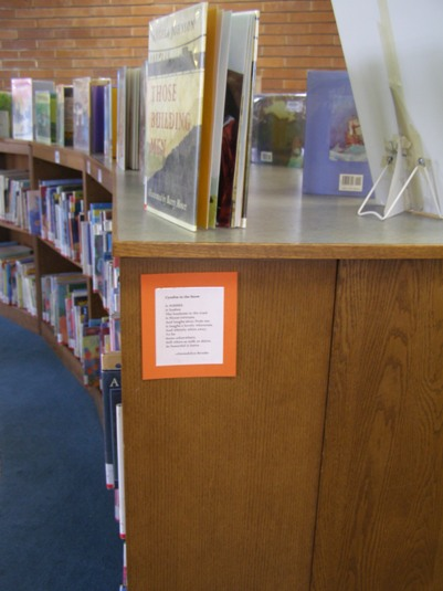 Poems for younger children go in the picture book area